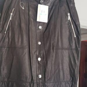 Leather Skirt Michael Kors